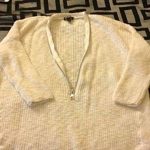 zipper front sweater